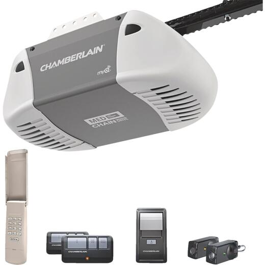 Chamberlain C-410 1/2 HP Durable Chain Drive Garage Door Opener with MED Lifting Power